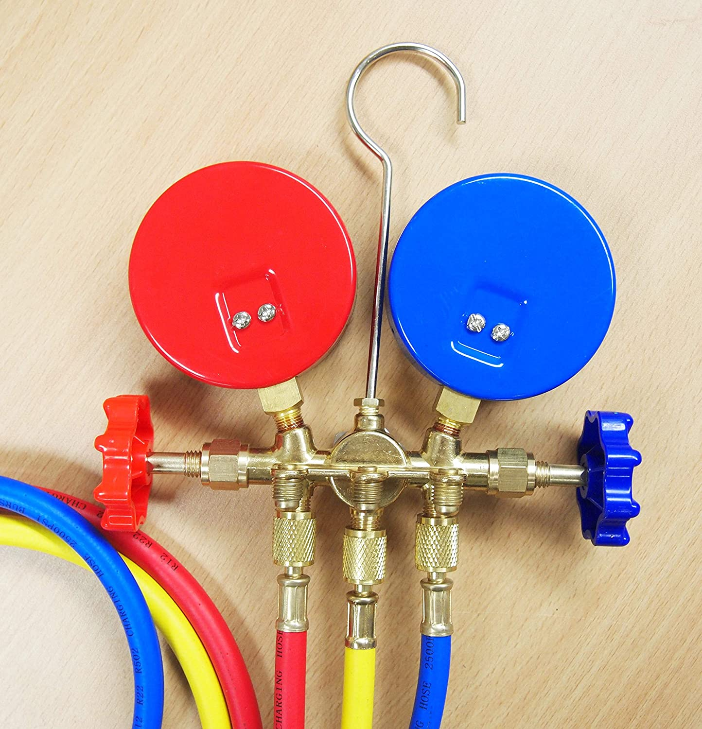 R12 R22 R134a R404a Manifold Gauge Set 3 Gauge HVAC A//C Refrigeration Charging Service