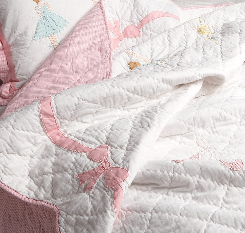 Ballet Lesson Collection Pink Queen 3-Piece Quilt Set Pem America