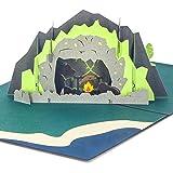 Ribbli Bear Handmade 3D Pop Up Card,Greeting Card,Thank You Card,Animal Card,Picnic Card,Camping Card,For Birthday Card…