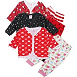 Baby Grow Baby Front Open Full Sleeve Vest -Jhabla With Rib Leggings