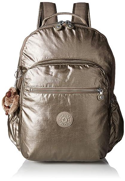 4cbd434e7 Kipling Seoul Go Mochila para portátil, peltre metálico, Metálico Pewter,  Talla unica