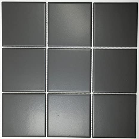 Vogue Tiles Porcelain 3-3/4 in  x 3-3/4 in  Matte Mesh