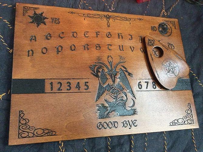 Tabla Ouija Baphomet Grabado en madera