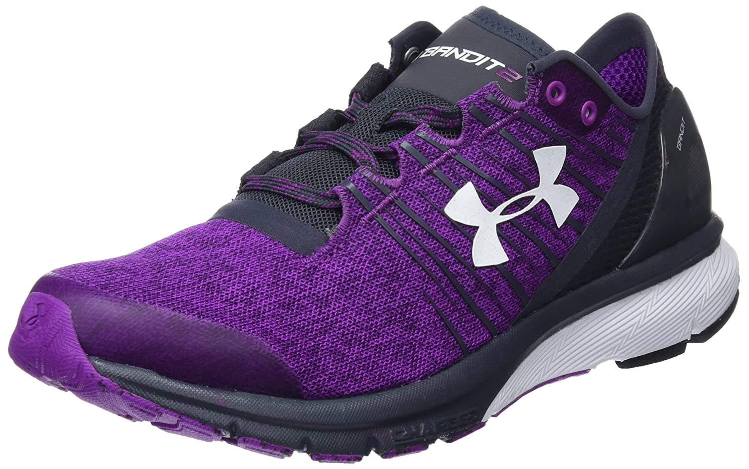 Under Armour Women's Charged Bandit 2 Cross-Country Running Shoe B01I0KZWFY 6.5 B(M) US|Purple/Stealth Grey