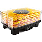 Andrew James Digital Food Dehydrator - Adjustable Thermostat 40-70°C - Programmable Timer - 6 Stackable Trays for Fruit and Vegetables - Low Energy Usage & Easy to Clean