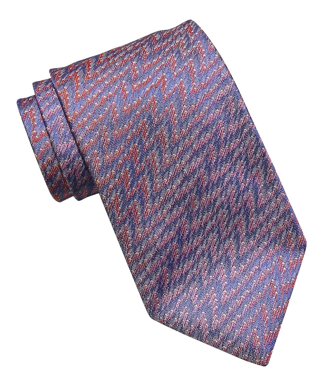 Missoni Blue Pink Lightning Tie