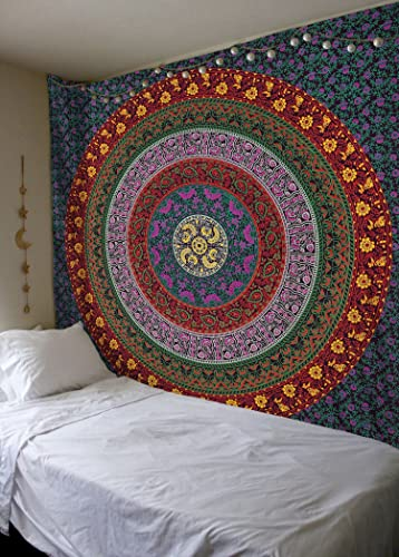 Large Hippie Tapestry, Hippy Mandala Bohemian Tapestries, Indian Dorm Decor, Psychedelic Tapestry Wall Hanging