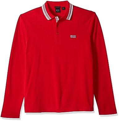 c502a8fe Amazon.com: Hugo Boss Men's Plisy Long Sleeve Polo: Clothing