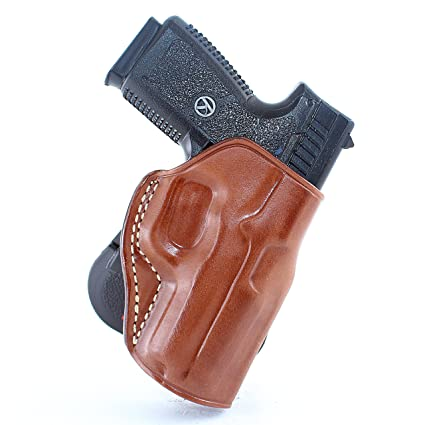 Masc Leather Paddle Holster Fits Kahr K9/P40/CW40/P45/CW45, Right Hand,  Brown #1112#