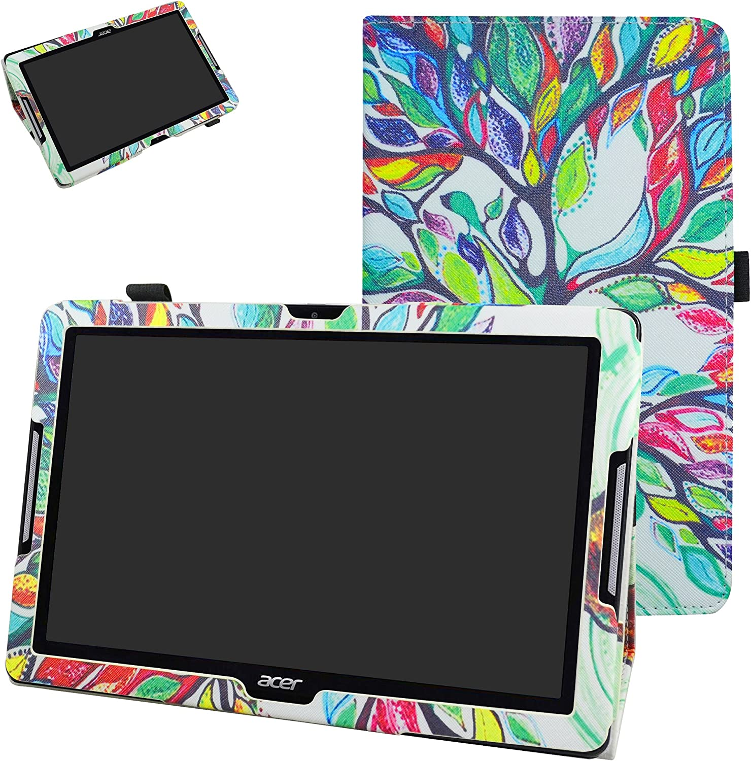 Acer Iconia One 10 B3-A30 Case,Mama Mouth PU Leather Folio 2-Folding Stand Cover with Stylus Holder for 10.1
