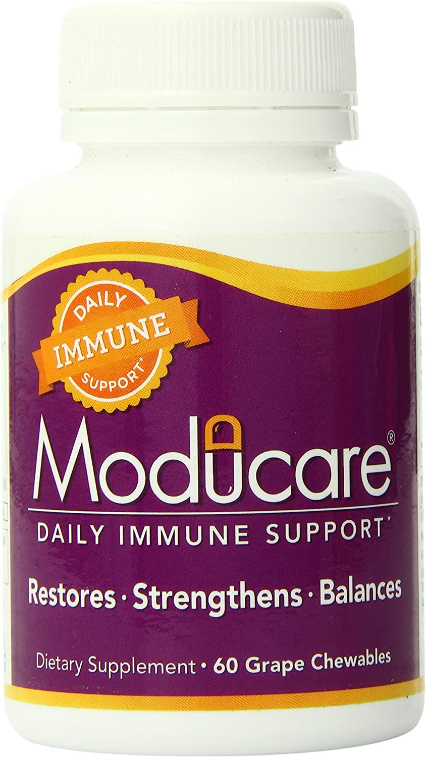 Moducare Daily Immune Support, Plant Sterol Dietary Supplement, Grape flavored , 60 chewable tablets