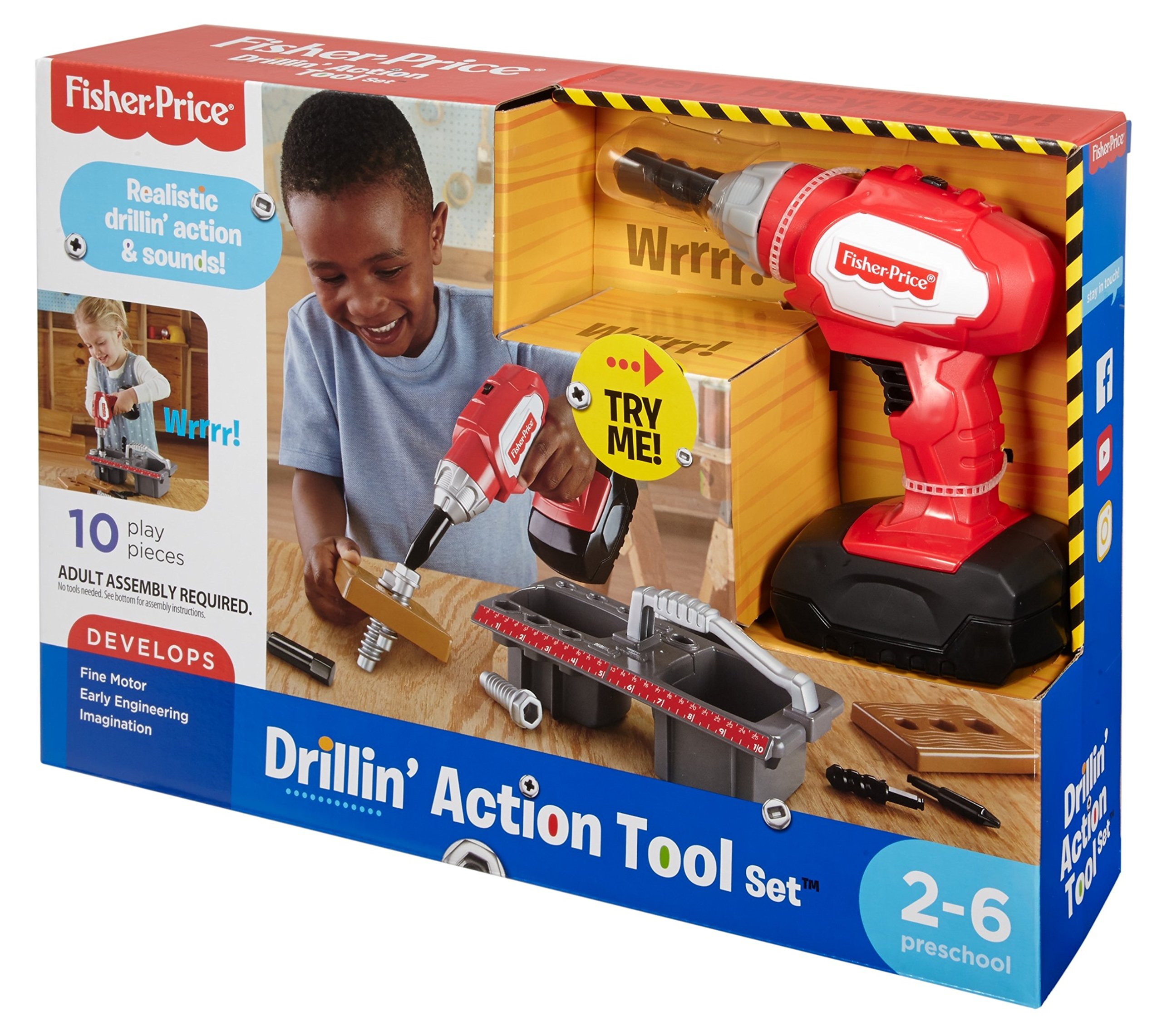 Fisher-Price Drillin' Action Tool Set by Fisher-Price