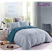 SleepX Winter Comforter King Size Reversible with Fine Microfibres, Sea Lavender