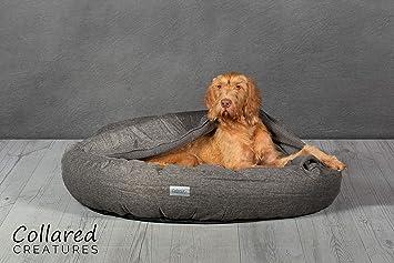 Collared Creatures Comfort Cocoon cama para perro, cama para perro, extra grande, 1100 mm, color gris: Amazon.es: Productos para mascotas