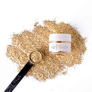 Sweets Indeed Sprinklefetti Edible Glitter - Edible Glitter For Drinks, Food & Cake Decorating - Glitter Cake Topper for Desserts (Gold, 4 grams)