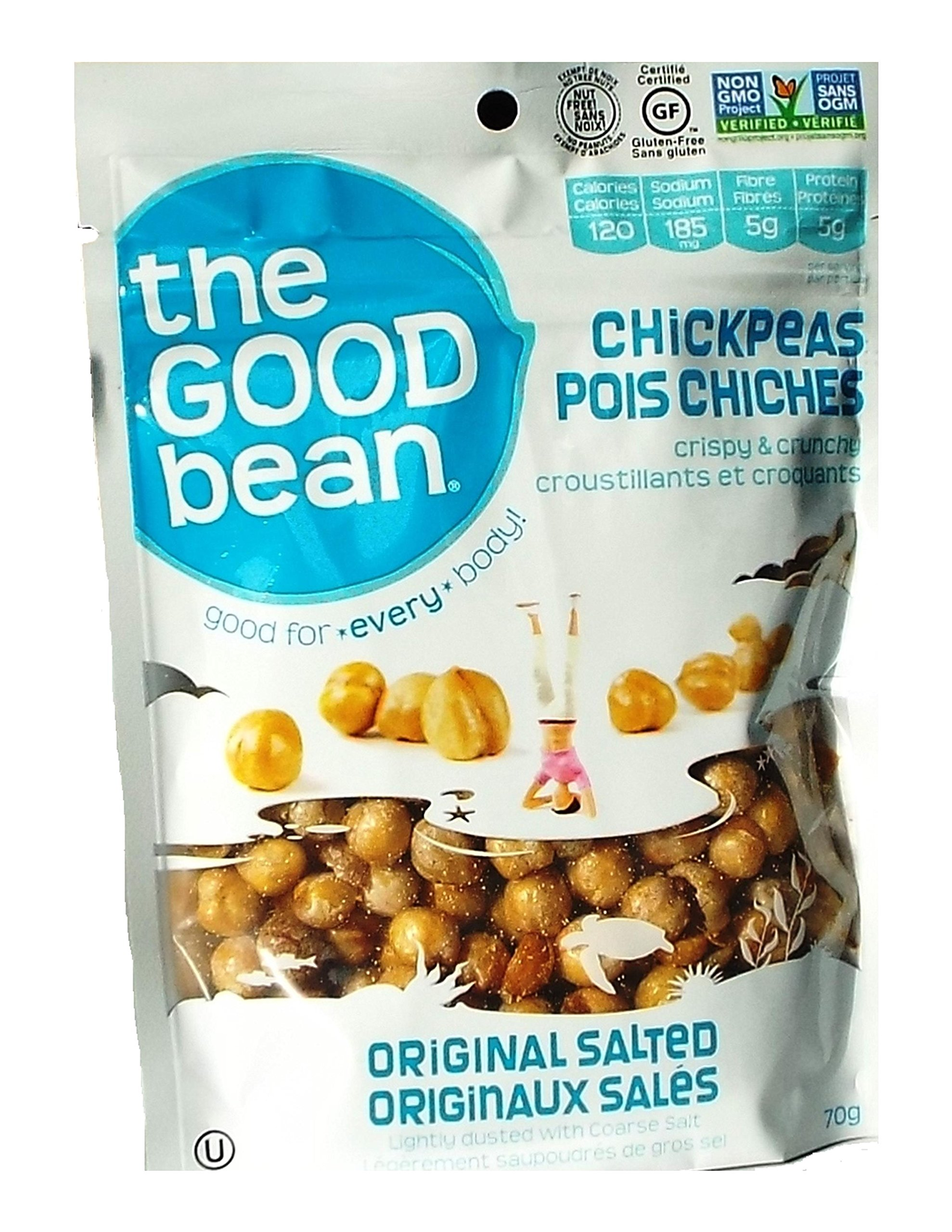 The Good Bean Chickpea Snack Seasalt, 2.5 oz by The Good Bean