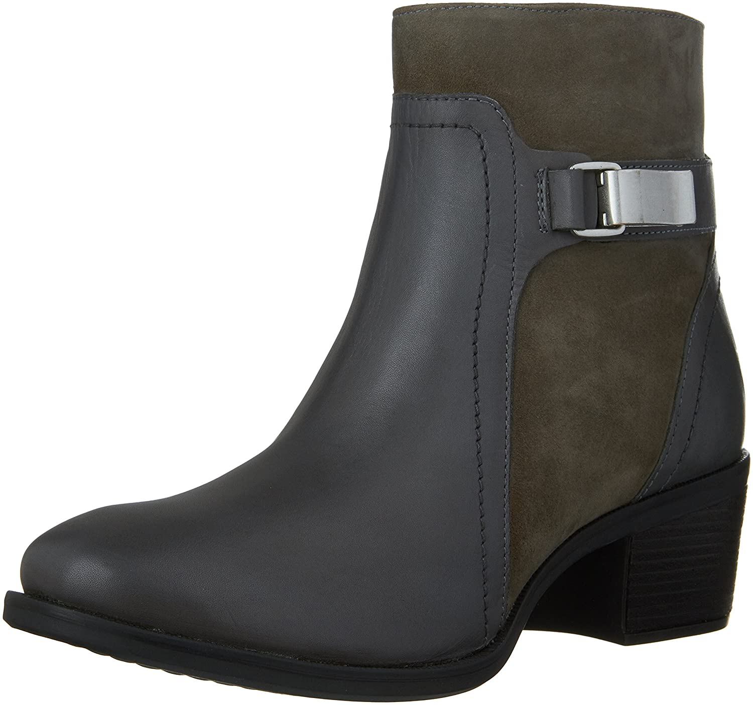 Hush Puppies Women's Fondly Nellie Western Boot B019X7V8O2 11 B(M) US|Smoke Leather/Suede