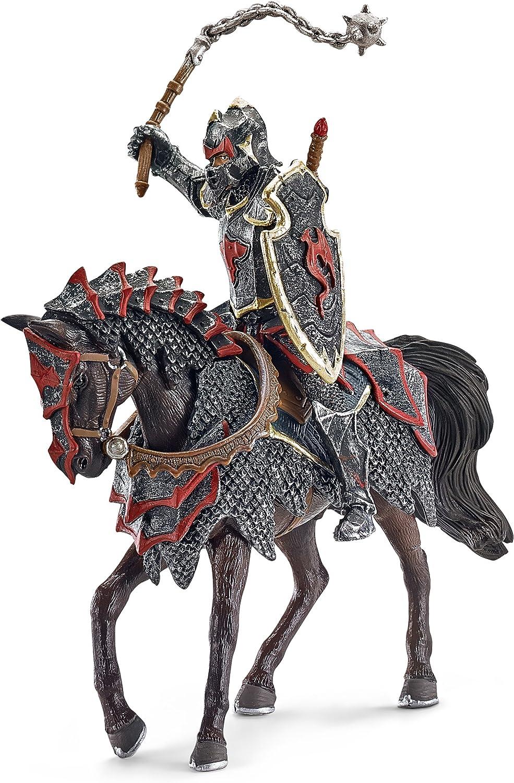 Schleich - Caballero del dragón a Caballo con maza, Figura (70101)