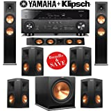 Klipsch RP-280F 7.1 Reference Premier Home Theater System with Yamaha RX-A760BL 7.2-Ch Network A/V Receiver