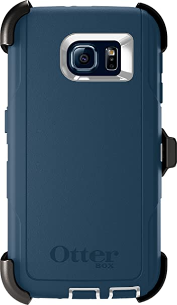info for 082ec 98a4e Otterbox Defender Series Case for Samsung Galaxy S6, Retail Packaging,  White/Dark Deep Water Blue