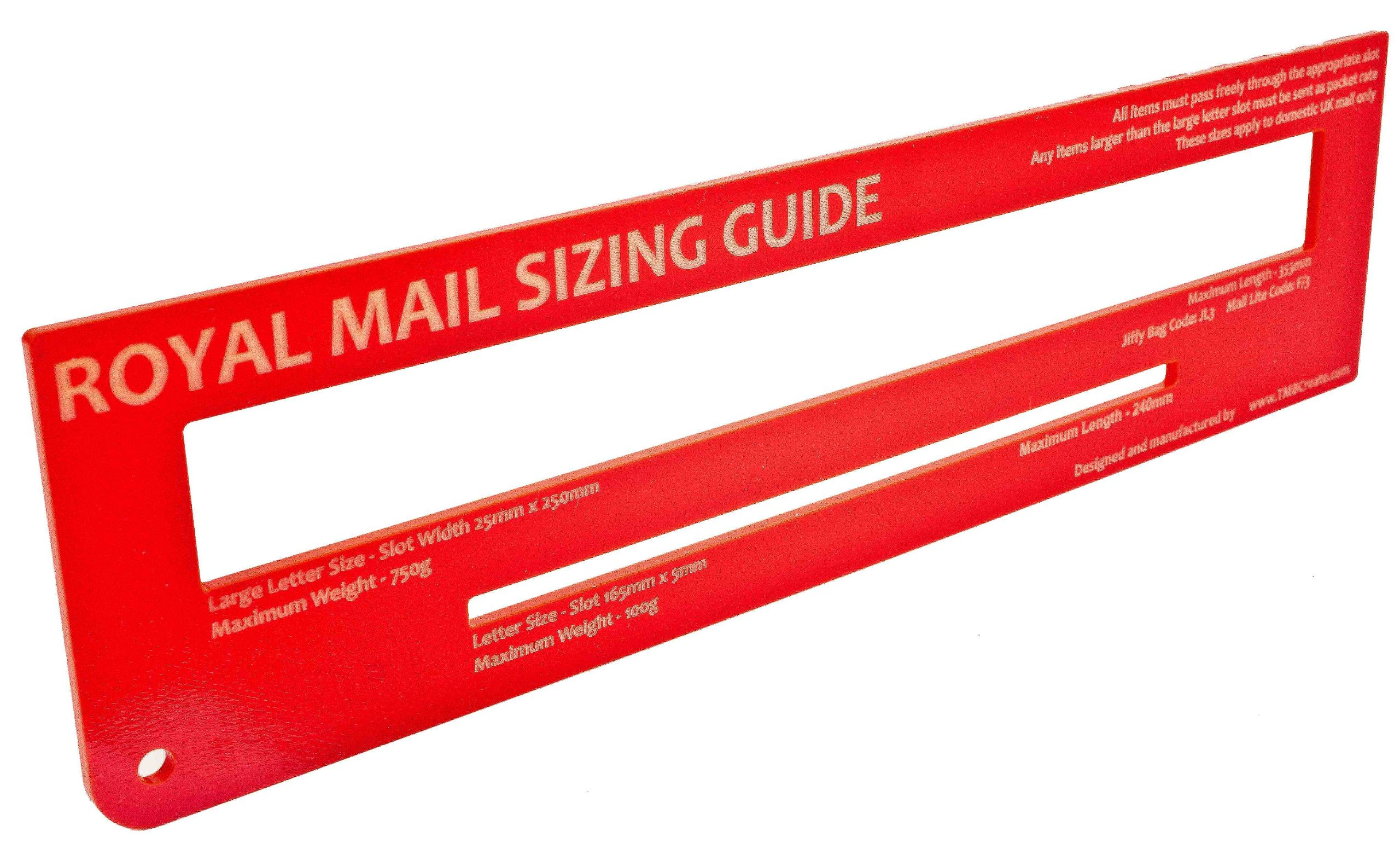 Royal Mail Postal Guide / Template for Pricing In Proportion