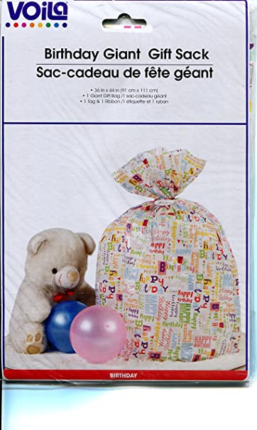 Amazon Giant Gift Wrap Bag With To From Card 36 X 44 Inches