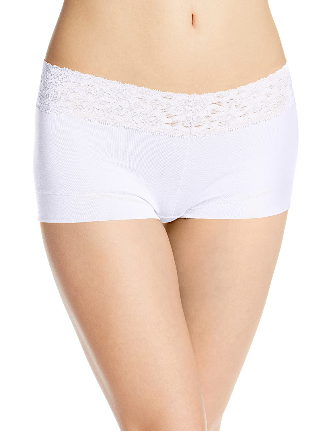 8bcd10d9d9db Maidenform Women's Dream Cotton with Lace Boyshort at Amazon Women's  Clothing store: