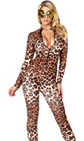 Forplay Women's Leopard Zipfront Catsuit