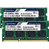 Timetec Hynix IC 8GB KIT (2x4GB) DDR3L 1600MHz PC3L-12800 Unbuffered no ECC 1.35V CL11 2Rx8 Dual Rank 204 Pin SODIMM Actualiz