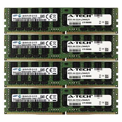 DDR4 Samsung by A-Tech 128GB Kit 4X 32GB 4Rx4 Load Reduced PC4-17000  2133MHz for Dell PowerEdge R730xd R730 R630 T630 R430 R530 C4130 A7945725