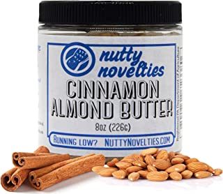 product image for Nutty Novelties Cinnamon Almond Butter - High Protein, Sweet Almond Butter - All-Natural, Light Almond Butter Free of Cholesterol & Preservatives - Pure Almond Butter - 8 Ounces
