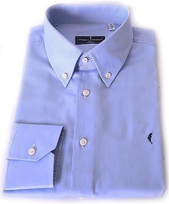 DOMENICO AMMENDOLA - Camisa formal - Manga larga - para hombre azul celeste 40: Amazon.es: Ropa y accesorios