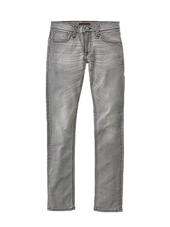 Nudie Jeans Damen Jeans Long John, Grau (Grey Sparks), W27/L30