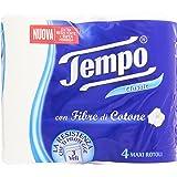 Tempo Toilet Tissue Cotton Touch 3-Ply - 4 Rolls (White)