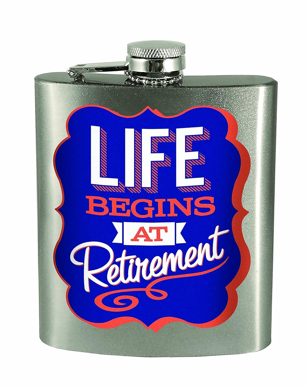 激安 Spoontiques Life Life Begins At Retirementフラスコ At Spoontiques、、シルバー B01MSU2QO2, ペット犬猫療法食動物病院:73a0b4c7 --- officeporto.com