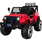Ricco S2388 Red 4x4 Kids Ride on Car with Remote Control LED Lights and Music