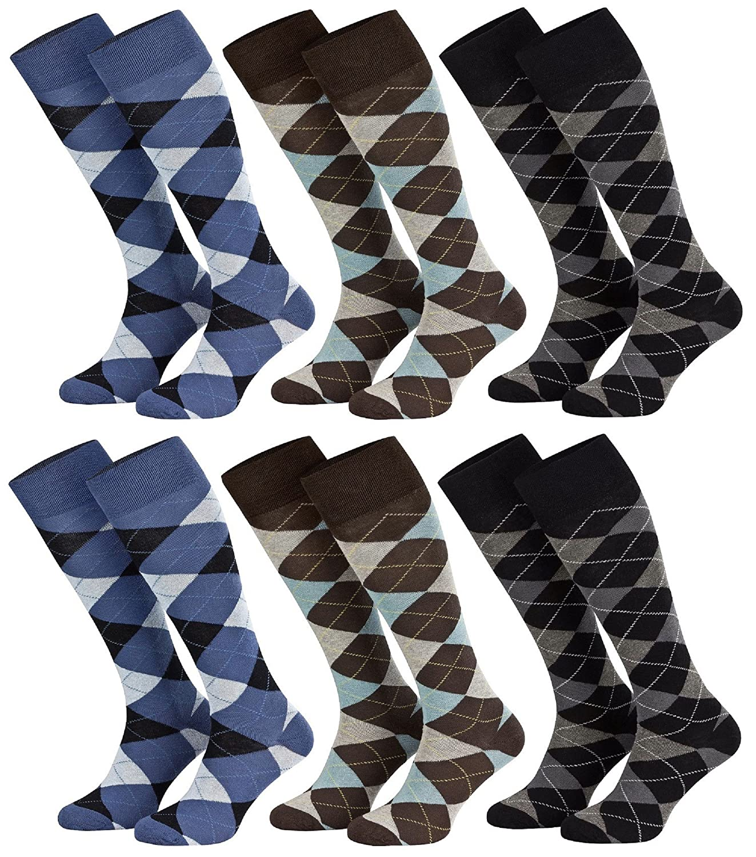 Tobeni 6 Paia di Calzettoni alla moda in Cotone Calze per Adolescenti Donna e Uomo 241.004