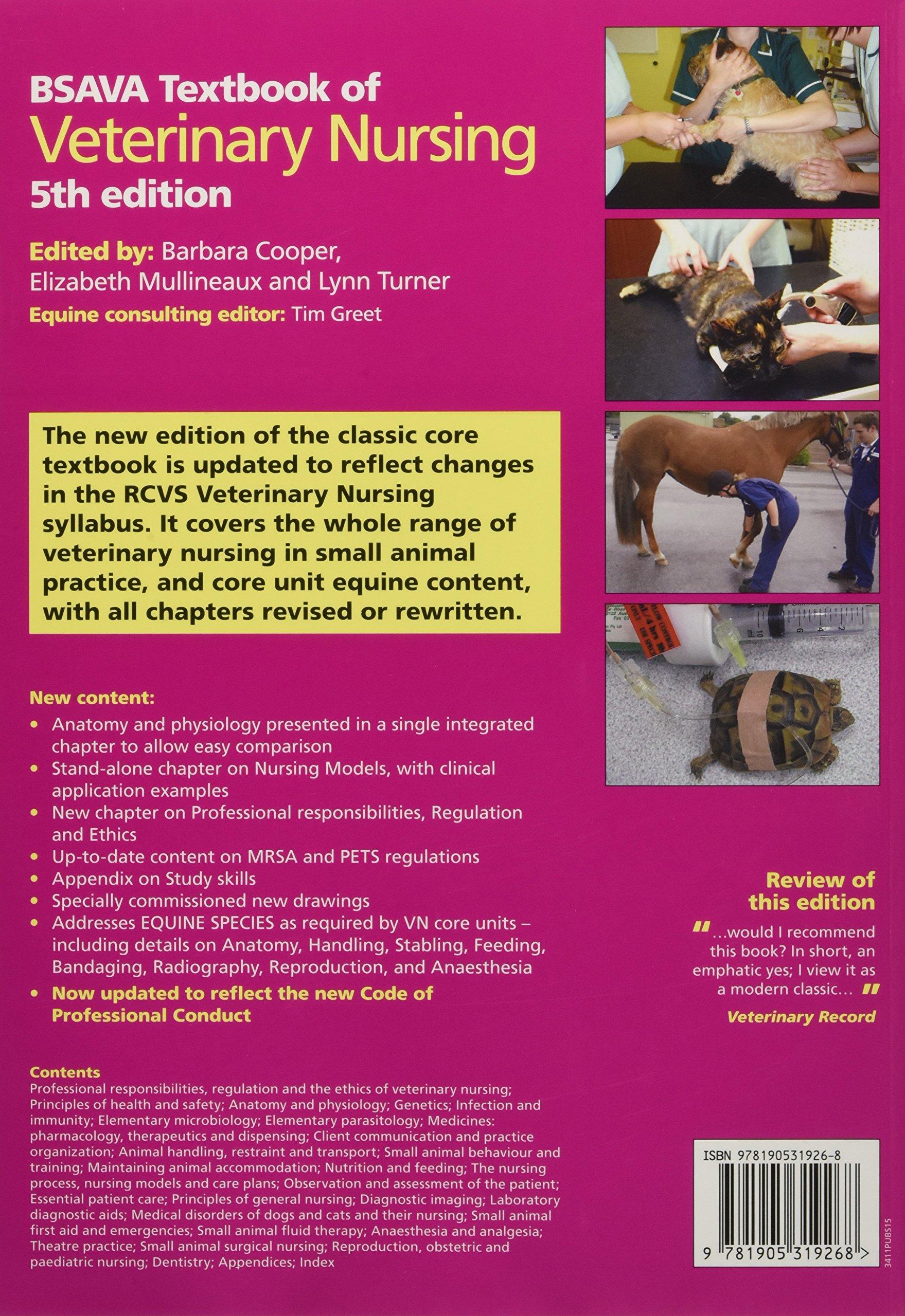 BSAVA Textbook of Veterinary Nursing (BSAVA British Small Animal ...