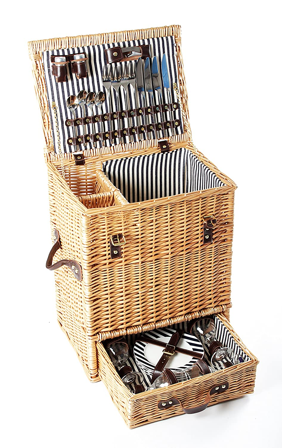 #Mondäner Picknickkorb CARLTON für 4 Personen der Greenfield Collection#