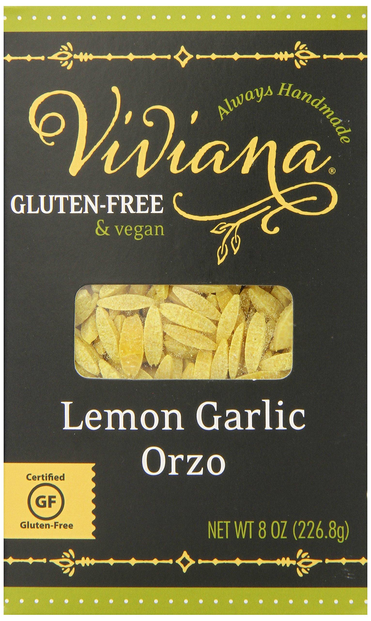 Viviana Certified Gluten-Free Lemon Garlic Orzo, 8 Ounce