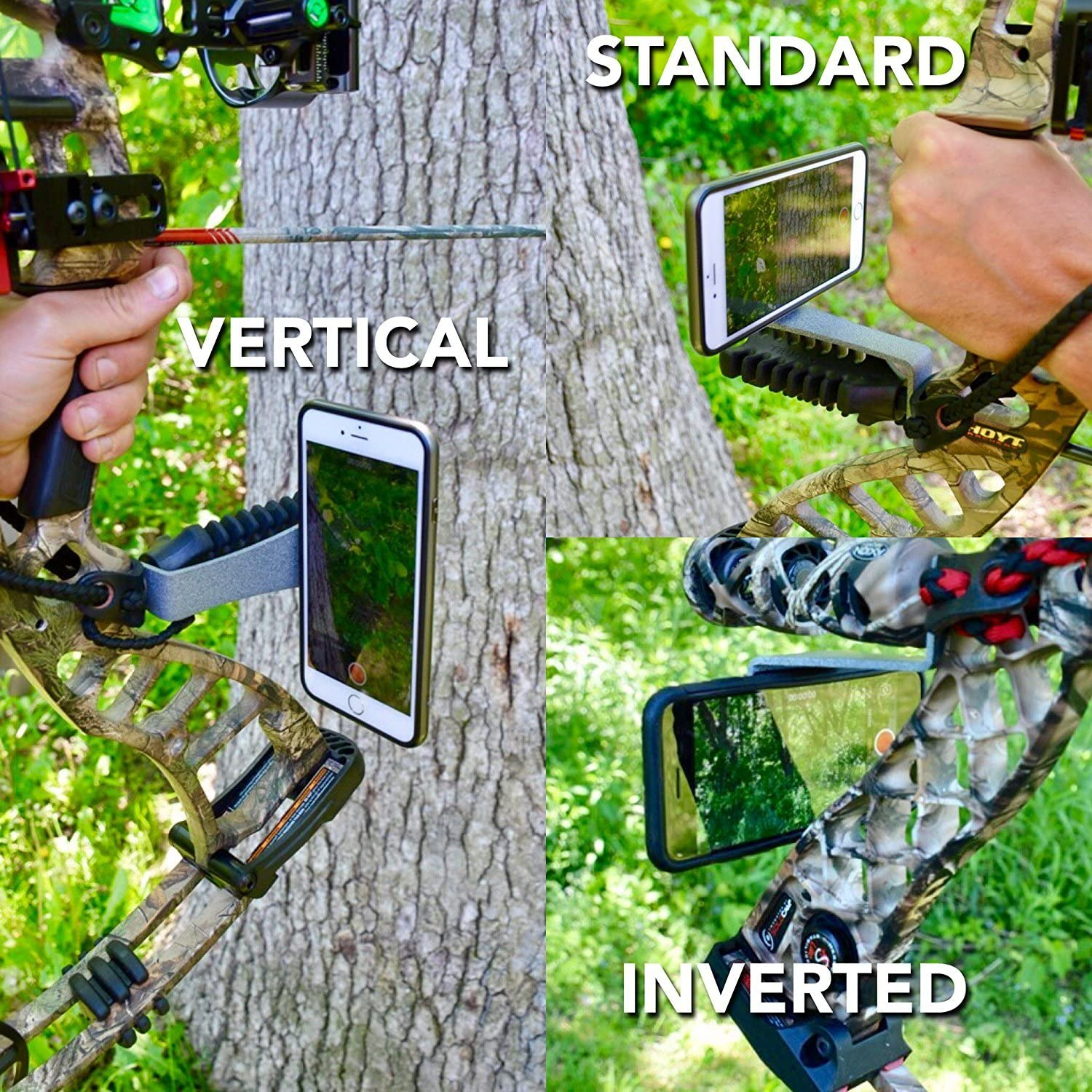 Midwest Orion Smartphone Camera Bow Phone Mount for Use with iPhone,Samsung,gopro and More