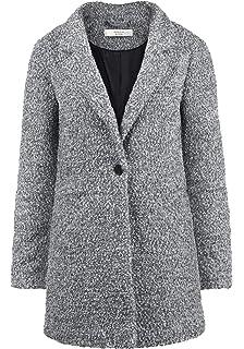ONLY Berta Boucle Damen Winter Jacke Wollmantel Winterjacke Mantel aus  Bouclé mit Reverskragen 1c63945e9c