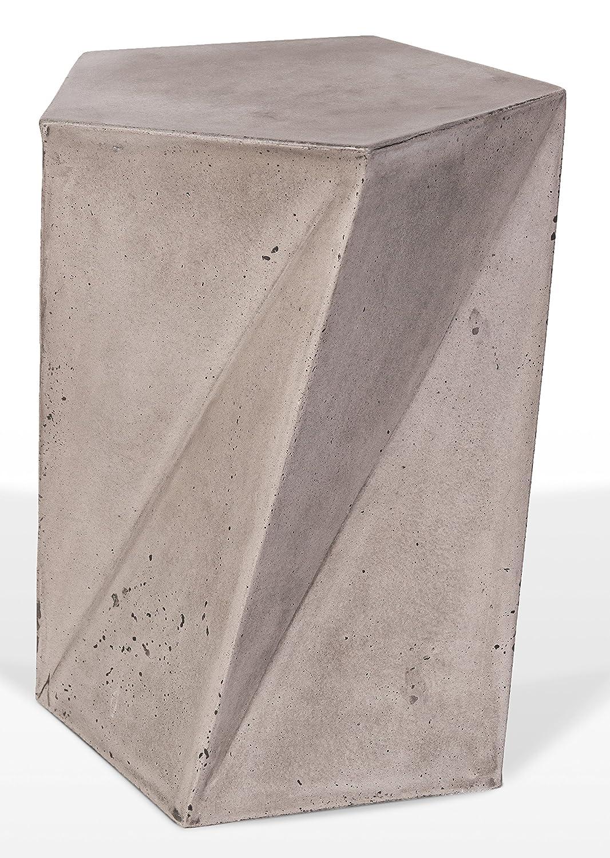 Meubletmoi Hocker dekorativ Design Pentagon aus Beton/ /Design Moderne M/öbel Loft