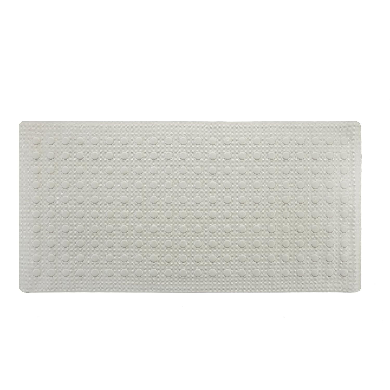 SlipX Solutions Extra Long Rubber Bath Safety Mat (White, 45cm x 91cm) Venturi 06600-1