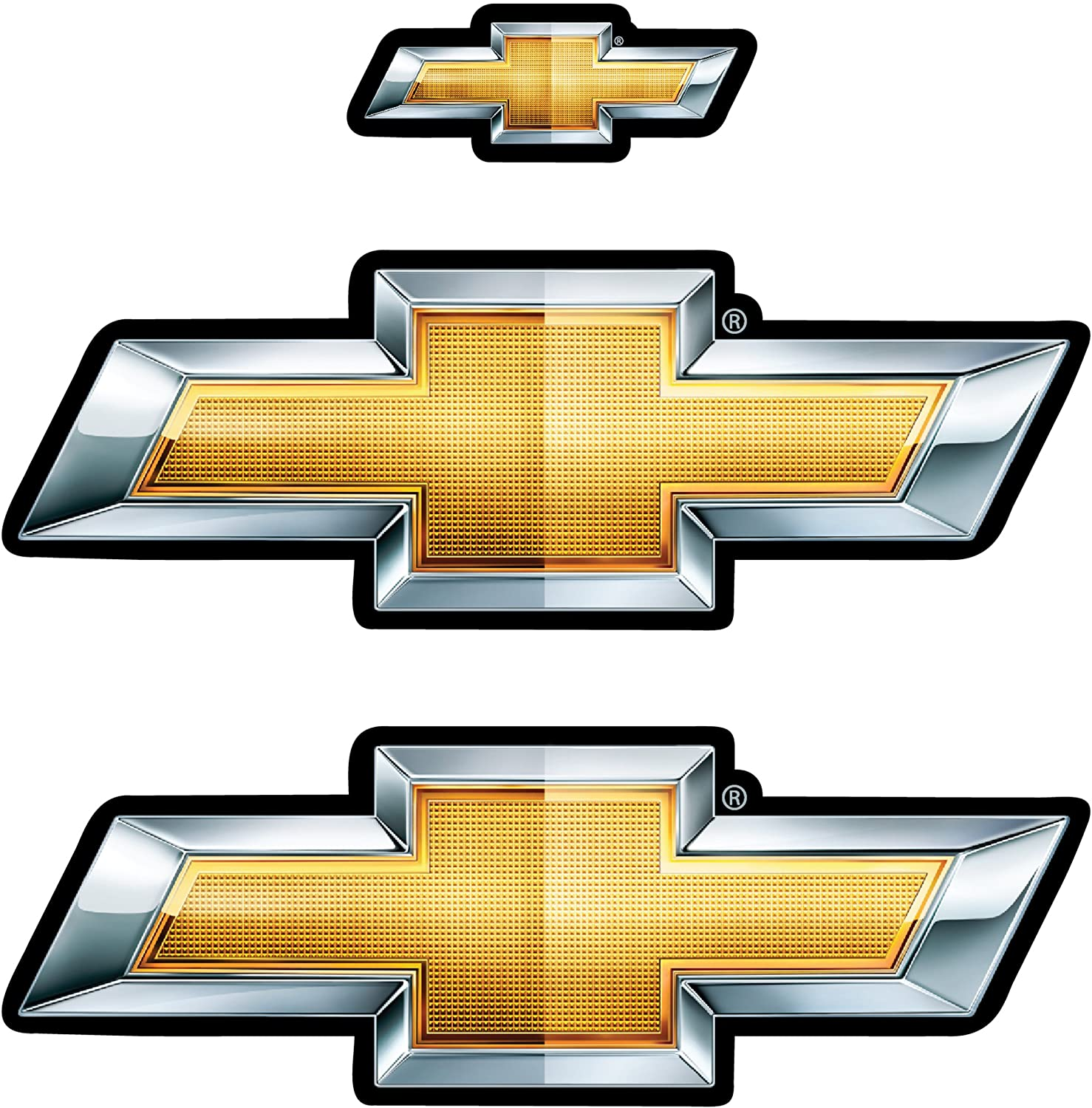 Chevy Bowties Holographic Decal
