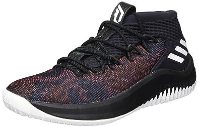 adidas Dame 4 Shoe Men s Basketball 15 M US Core Black-White ec181b8ce