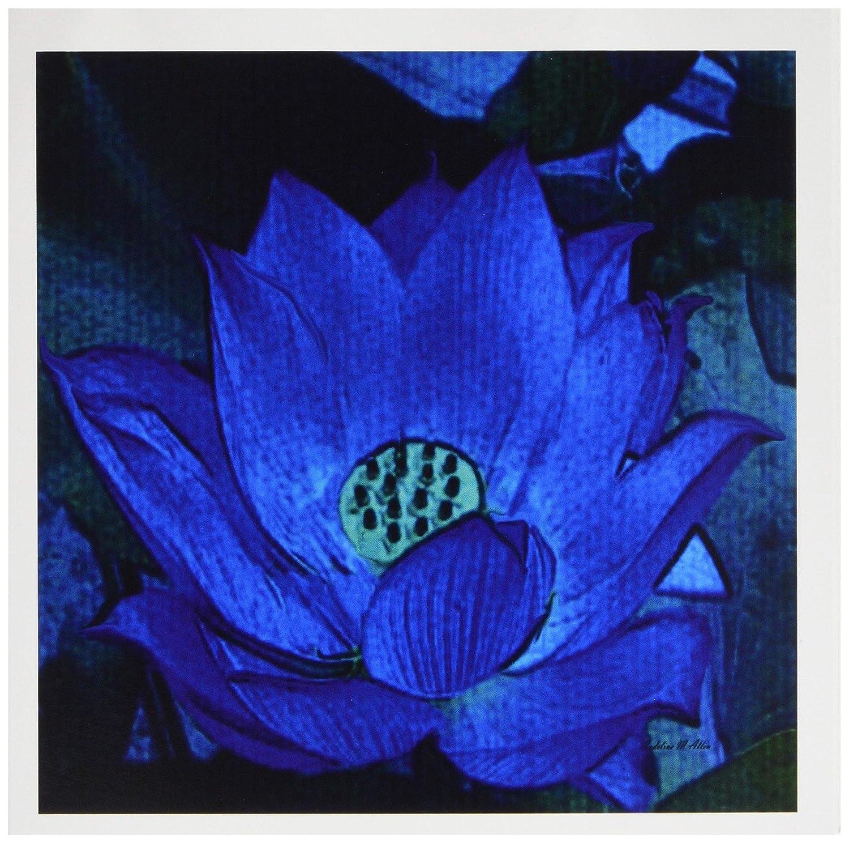3drose blau Lotus–Grußkarten, 6von Foto, Set 12(GC 7166_ 2)