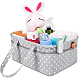 Sweet Carling's Large Baby Diaper Caddy Organizer | Baby Shower Registry Must Haves For Boy Girl | Portable Car Basket Newborn Essentials | Nursery Decor Changing Table Storage Organizers For New Mom