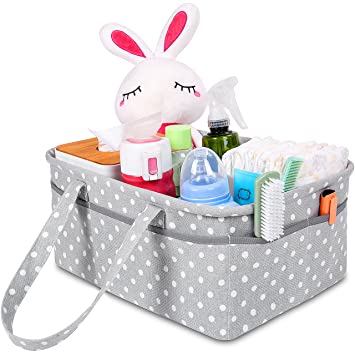 amazon com sweet carling s large baby diaper caddy organizer