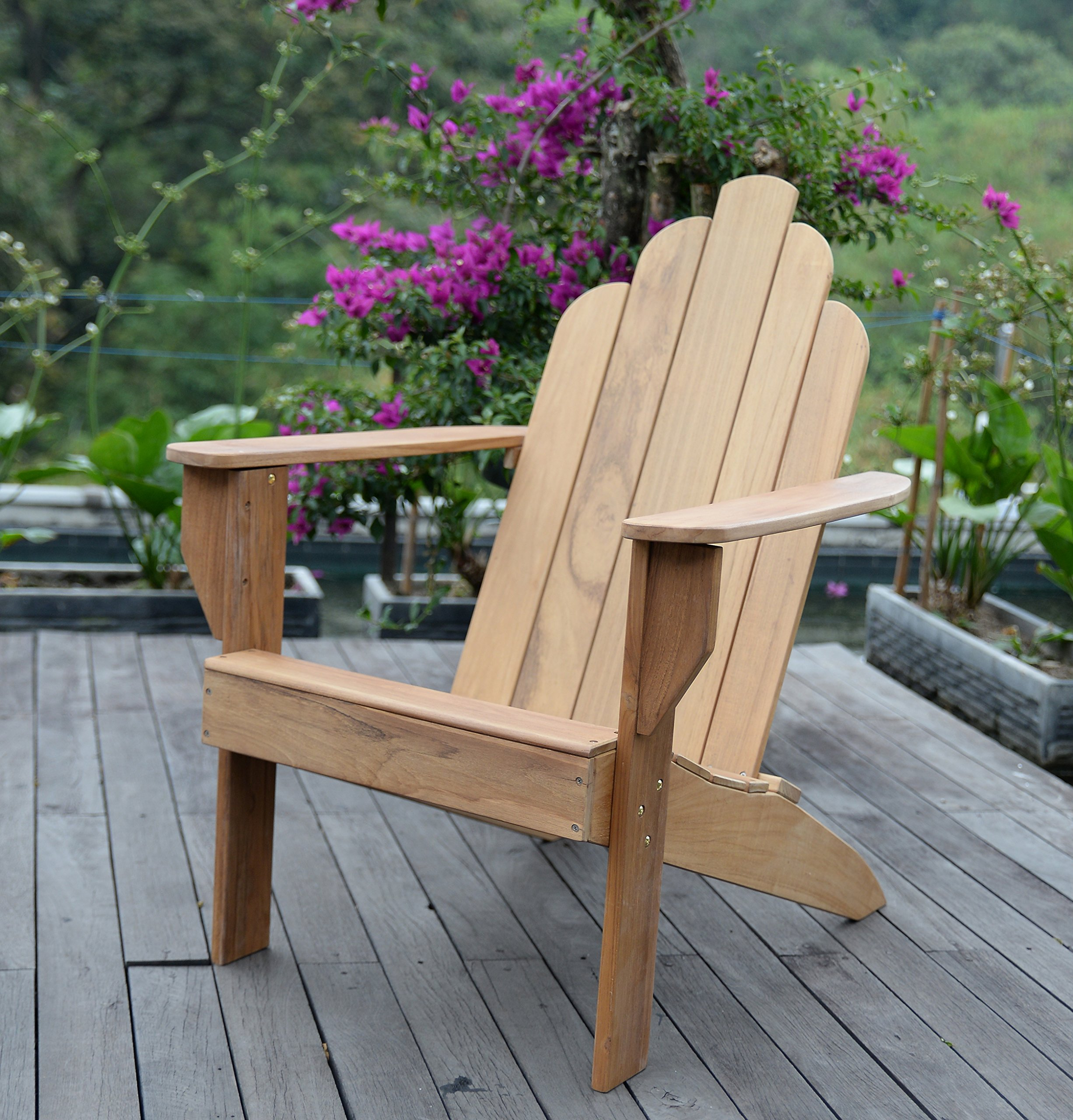 Cambridge-Casual AMZ-240275T Arie Teak Adirondack Adirondak Chair, Natural by Cambridge-Casual
